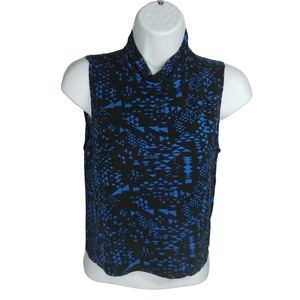 Candy Couture Cropped Turtleneck Sleeveless Top, L